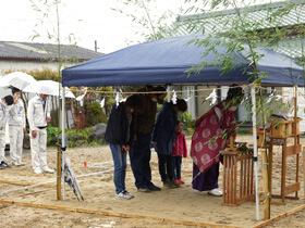 3世代で暮らす本格和風住宅 地鎮祭