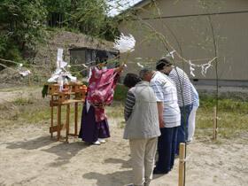 白山の家 地鎮祭