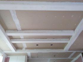 贅沢なドライエリアのある私の家 折上天井