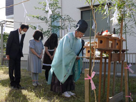 大人の和モダンスタイル 地鎮祭