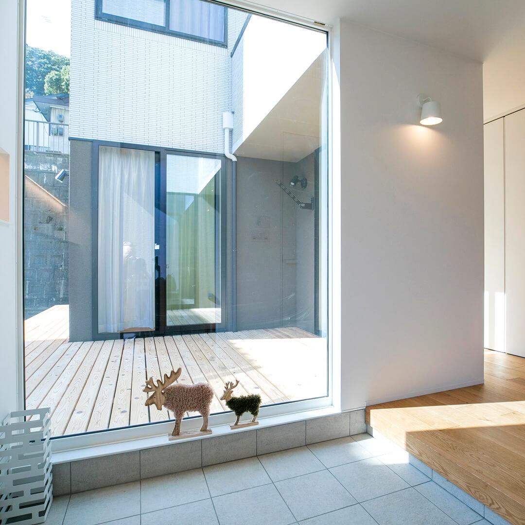 注文住宅|安水建設|愛知県安城市を中心に三河エリアの木造注文住宅・リフォーム印象的な玄関のあるお家