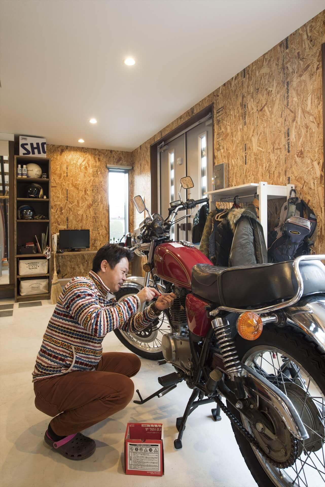 後悔が全くなく家中ツボだらけ! 自慢のバイクが土間に映える家