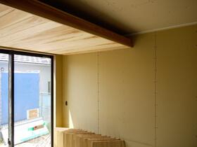 遊べる玄関土間のある家 下がり天井